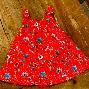 Red floral dress 12-18M GAP 😍 NWT!